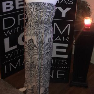 Bisou Bisou black and white strapless maxi